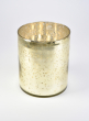 6 x 7 1/2in H Antique Light Gold Cylinder