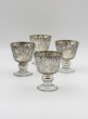 4in Antique Silver Coupe Candleholder, Set of 4