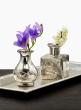 4in Cut Work Antique Silver Bottle Vase, Set of 6