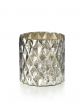 5in H Antique Silver Diamond Cylinder