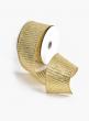 2 1/2in Gold Horizontal Rib Ribbon