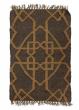 3ft & 6ft Brown & Gold Moor Wool & Jute Rugs