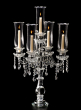 31 1/2in Crystal Chandelier Hurricane Candelabra