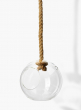 hanging glass ball on a rope