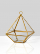 Gold Pyramid Candleholder, 5 1/2in H