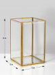 Beveled Glass Gold Square Hurricane