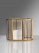 Beveled Glass Gold Octagon With Mirror Bottom