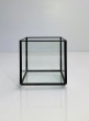 4in Black Antique Glass Box Without Lid