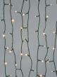 200 Warm White LED Lights Set, Green Cord