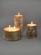 3 x 4in Birch Bark Pillar Candle