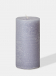 3 x 6in Rustic Cement Grey Pillar Candle