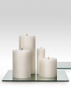 4 x 9in White Pillar Candle