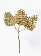 Gold Glitter Pine Cone Pick, Set of 12