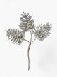 Silver Glitter Pine Cone Pick, Set of 12