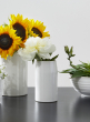 3 x 5 1/2in White Ceramic Potter's Vase