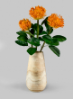 Tapered Pedestal Paulownia Wood Vase