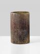 ribbed mercury glass cylinder vase