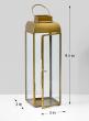Alazhar Square Gold Lantern, 9 1/2in H