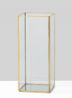 12in Gold Candle Holder With Mirror Bottom