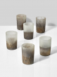 3in Ombre Gold Frost Glass Votive Holder, Set of 6