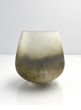5 x 5in Ombre Gold Frost Balloon Glass Vase