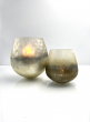6 1/2 x 7in Ombre Gold Frost Balloon Glass Vase