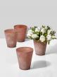 3 1/2 x 4in Terracotta Frost Watercolor Glass Vase, Set of 4