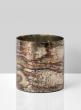 marbelized finish glass vase