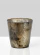 antique bronze vintage glass vase