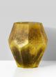 Moss Green Octagon Glass Vase