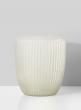 Ribbed White Frost Vase