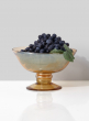 Amber Luster Glass Flower Compote