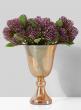 Amber Luster Glass Pedestal Vase