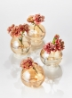 3in Amber Luster Glass Ball Bud Vase, Set of 4