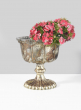 Marie Antoinette Vintage Glass Flower Compote