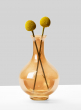 gold luster bottle bud vase with craspedia billy buttons