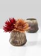 4 1/4in Diamond Rust & Silver Vase