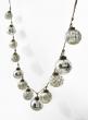 silver mercury glass ball ornament garland