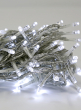 White Christmas Light Clear Cord LED Bright