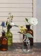 6 1/4in Dark Amber Glass Bottle Vase, Set of 6