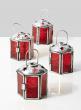 3in Red Lantern, Set of 4