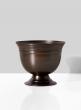 antique copper flower centerpiece compote bowl