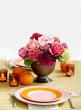 orange pink brown peony floral centerpiece