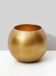 6in Gold Iron Fishbowl Vase