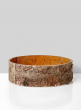 10 x 4 1/2in Birch Bark Finish Glass Bowl