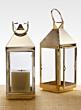 16in Shiny Brass Square Lantern