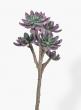 19in Green & Purple Succulent Pick