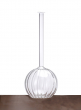 10 1/4in Glass Ball Bud Vase, Set of 2
