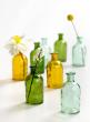 Blue Medicine Bottle Bud Vase, Set of 6