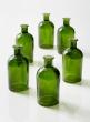 Dark Green Medicine Bottle Bud Vase, Set of 6